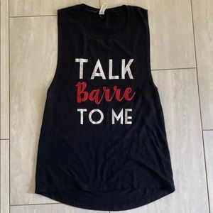 Etsy Talk Barre to Me Black Tank